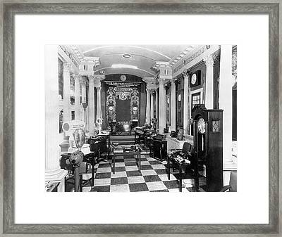 Ibm At Sesquicentennial Expo Framed Print by Underwood Archives