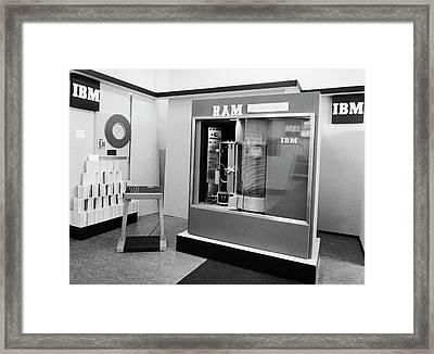 Ibm Ramac Hard Disk Drive Framed Print by Ibm Research