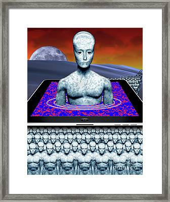 iBots Take Over Framed Print