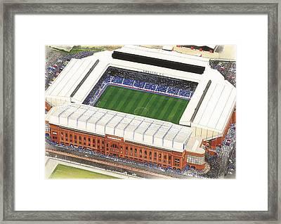 Ibrox - Glasgow Rangers Framed Print