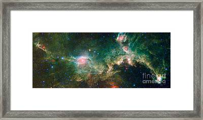 Ic 2177-seagull Nebula Framed Print by Science Source