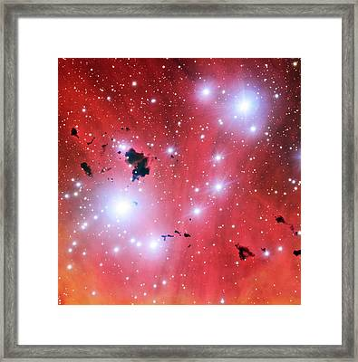 Ic 2944 Nebula Framed Print by European Southern Observatory