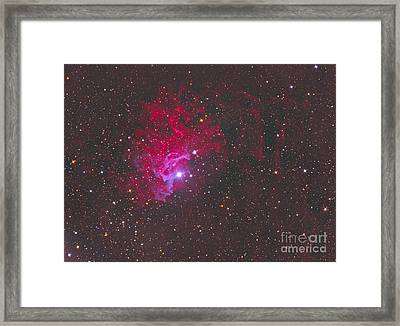 Ic 405, The Flaming Star Nebula Framed Print
