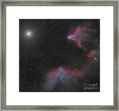 Ic 59 And Ic 63 In Cassiopeia Framed Print by Bob Fera