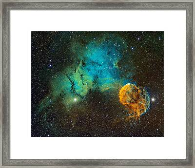 Ic443 - The Jellyfish Nebula Framed Print by Bob  Franke