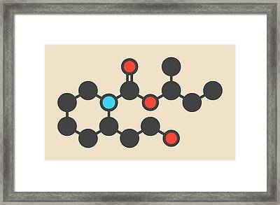 Icaridin Insect Repellent Molecule Framed Print