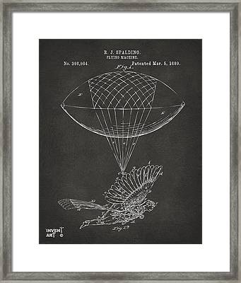 Icarus Airborn Patent Artwork Gray Framed Print by Nikki Marie Smith
