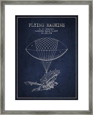 Icarus Flying Machine Patent From 1889 Framed Print by Aged Pixel