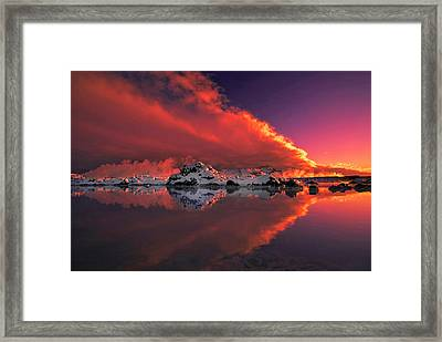 Ice & Fire Framed Print