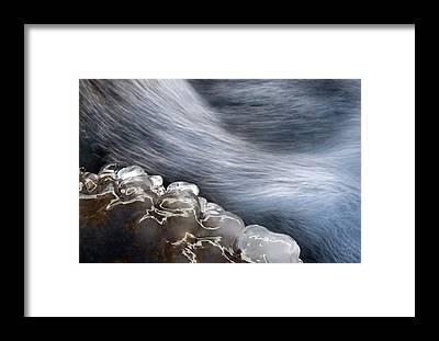 Frozen Water Framed Prints