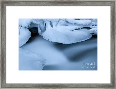 Ice 19 Framed Print by Bob Christopher