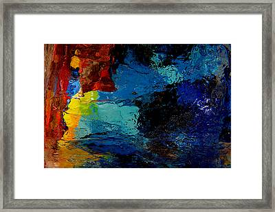 Ice Abstract Number One Framed Print by Jeff Rennicke
