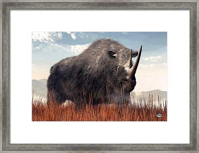 Ice Age Rhino Framed Print