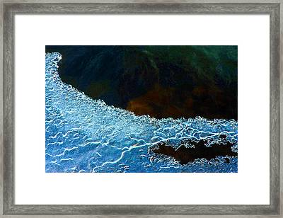 Ice And Lace Framed Print by Mike Flynn