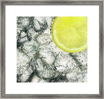 Ice And Lemon Framed Print by Anthony Bradshaw