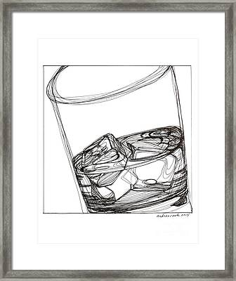 Ice Framed Print by Andrea Cook