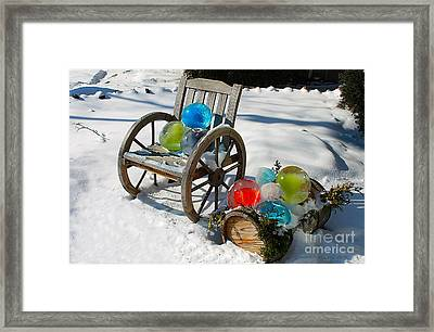 Framed Print featuring the photograph Ice Ball Art by Nina Silver
