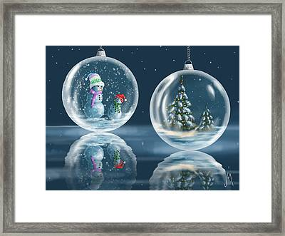 Ice Balls Framed Print by Veronica Minozzi