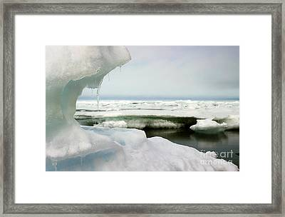 Framed Print featuring the photograph Ice Barrow Alaska July 1969 By Mr. Pat Hathaway by California Views Mr Pat Hathaway Archives