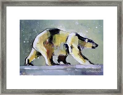 Ice Bear Framed Print by Mark Adlington