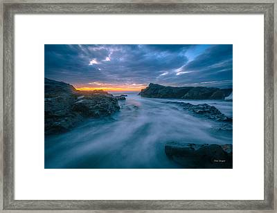 Ice Blue Framed Print