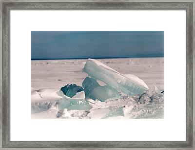 Ice Framed Print by Brady D Hebert