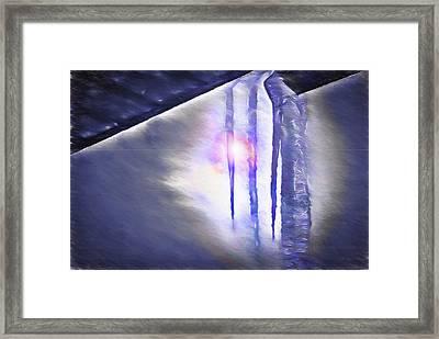 Ice - Break In The Storm Framed Print by Steve Ohlsen