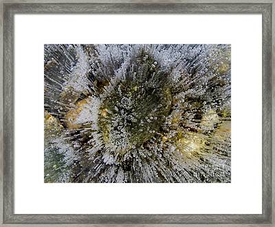 Ice Bubbles Framed Print