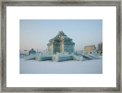 Ice Building At The Harbin Framed Print