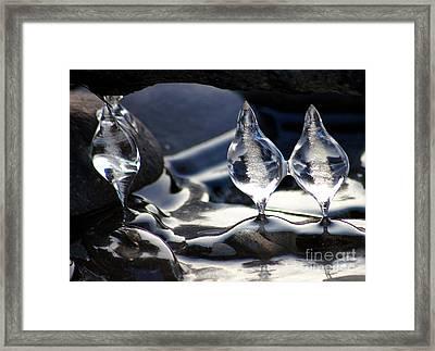 Ice Bulbs Framed Print