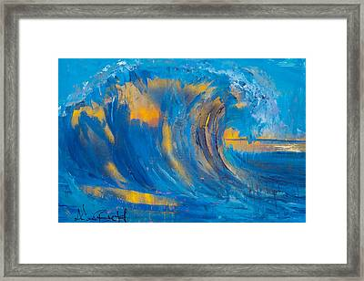 Ice By Adam Brett Framed Print
