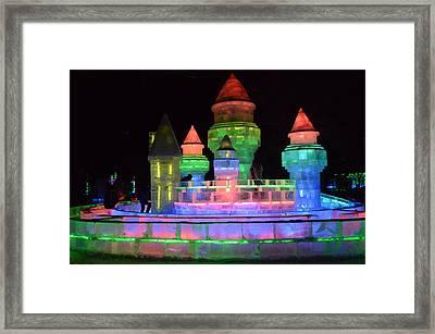 Ice Castle Framed Print by Brett Geyer