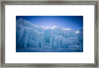 Ice Castle Framed Print by Edward Fielding
