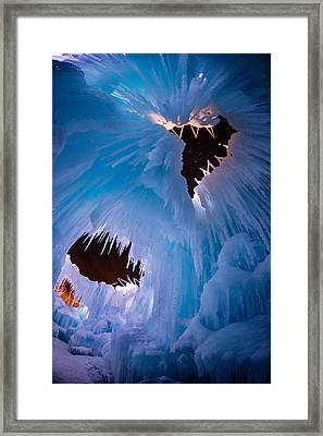 Ice Castle Windows To The Starry Night Framed Print