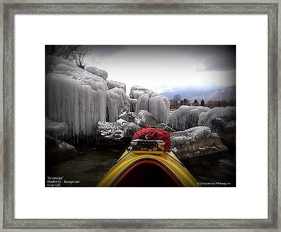 Ice Cathedral - November Ice Framed Print by Guy Hoffman