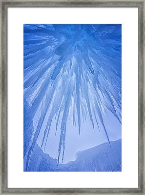 Ice Cave Framed Print by Darren  White