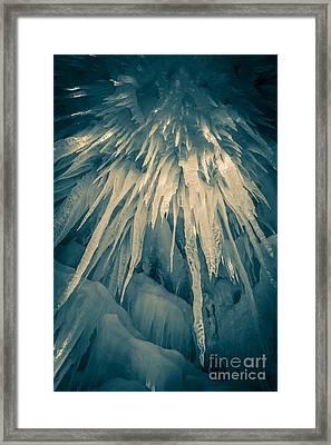 Ice Cave Framed Print