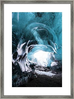 Ice Cave Entrance Framed Print by Dr Juerg Alean