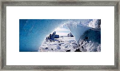 Ice Cave On A Polar Landscape, Gigja Framed Print by Panoramic Images