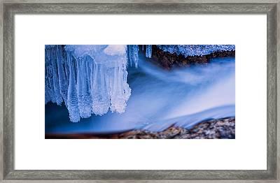Ice Chandelier Framed Print by Jeff Sinon