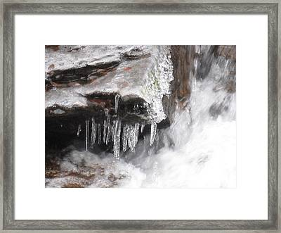 Ice Cold Creek In Colorado Framed Print
