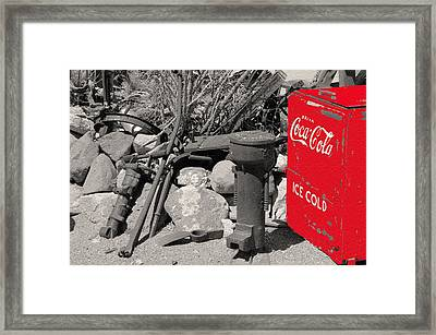 Ice Cold Drink Framed Print by Leticia Latocki