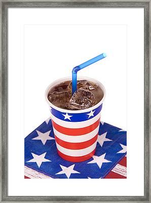 Ice Cold July Fourth Soda  Framed Print by Joe Belanger