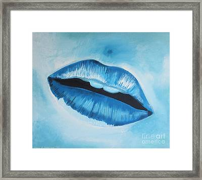 Ice Cold Lips Framed Print
