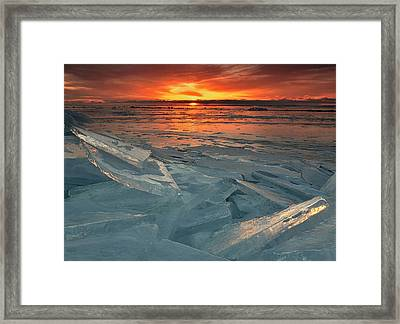 Framed Print featuring the photograph Ice Collage by Gregory Israelson