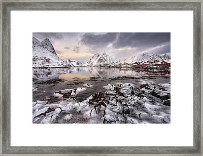 Ice Craking Framed Print