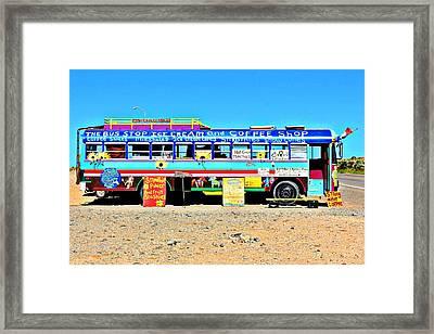 Ice Cream Bus Framed Print by Elizabeth Sullivan