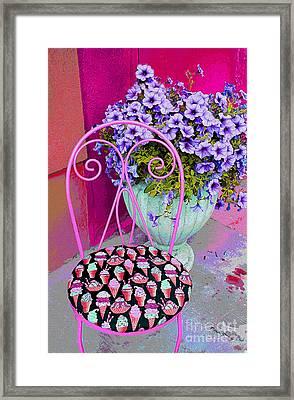 Ice Cream Cafe Chair Framed Print