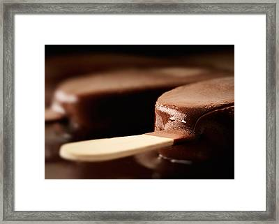 Ice Cream Chocolate Bar Framed Print by Johan Swanepoel