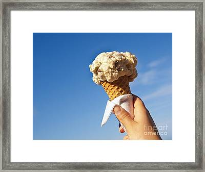 Ice Cream Cone Framed Print by Tim Hester